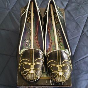 Star Wars Irregular Choices Darth Vader Flat Shoes